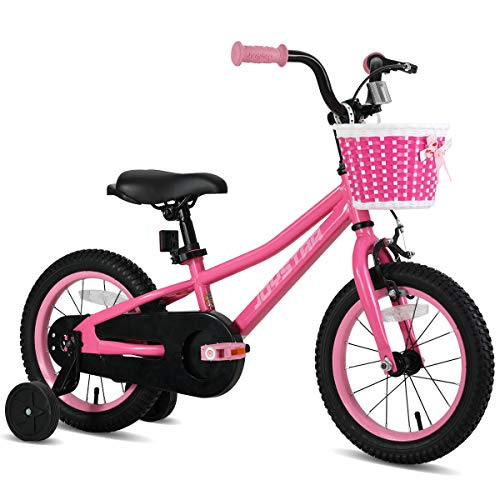 JOYSTAR 12 Inch Kids Bike with Training Wheels for 2 3 4 Years Old Boys, Toddler Cycle for Early Rider, Child Pedal Bike, Pink