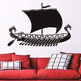 yaonuli Pegatinas de Pared Decoración del hogar Calcomanías para Barcos Decoración de la Sala Papel Pintado de Vinilo Dormitorio 57X76cm