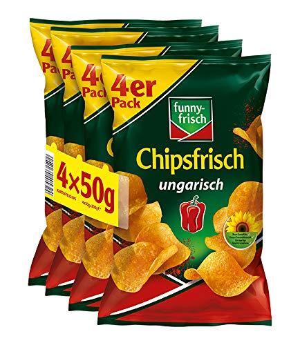 funny-frisch Chipsfrisch ungarisch Multipack, 10er Pack (10 x 4 x 50 g)
