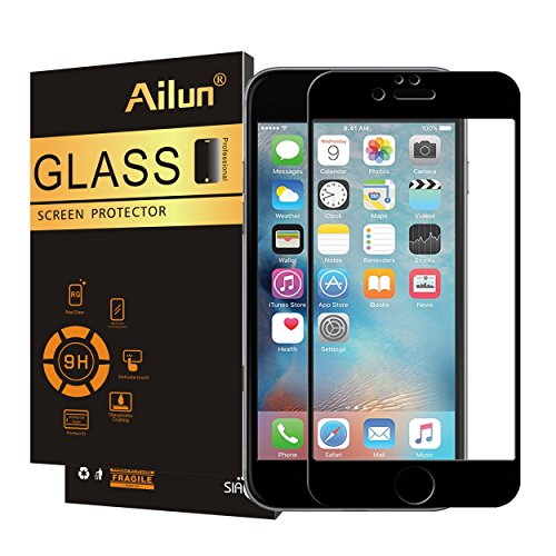Ailun Screen Protector Compatible with iPhone 8 Plus 7 Plus,2.5D Edge Tempered Glass,Full Coverage Compatible with iPhone 8 Plus,7 Plus,Anti-Scratch,Case Friendly