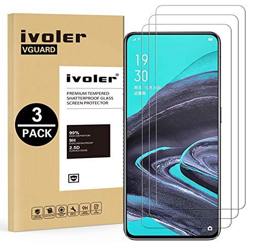 VGUARD 3 Pezzi Pellicola Protettiva Vetro Temperato per Oppo Reno 2 / Samsung Galaxy A52 4G / 5G / A52S 5G/ M31s / S20 Fe/Xiaomi Redmi Note 10 4G / Redmi Note 10S / Realme X50 PRO