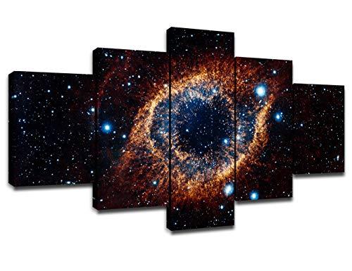 Wall Art Space Nebula Canvas Prints Poster Universe Galaxy Starry Sky...