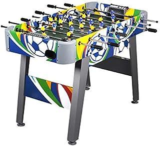 WIN.MAX Mesa de fútbol 4 pies Fútbol Colorido Juego de futbolín MDF Construcción Competencia Tamaño Arcade Deportes Diversión Servicio de Sala de Pub Interior Resistente
