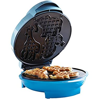Brentwood TS-253 Appliances Electric Food Maker-Animal-Shapes Waffle Maker, Blue