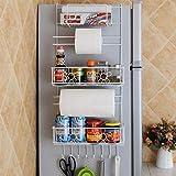 Elegantstunning - Appendiabiti da cucina con ripiano laterale per frigorifero, armadio e armadi