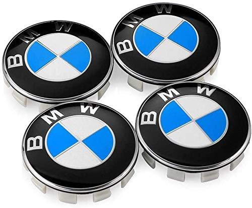 4 Piezas Cubo Rueda Cubierta Central para BMW 68mm, Polvo Insignia ModificacióN Estilo Cubierta Accesorio