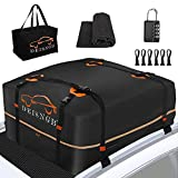 DEISNGB Rooftop Cargo Carrier 21ft³ and 15ft³ in One Vehicle Cargo Carrier Expandable 100% Waterproof 900D Fabric with Without Roof Rack Cargo Carrier Car Roof Bag Fits All Vehicle15-21 ft³