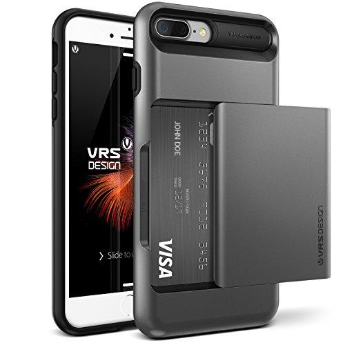 Funda para iPhone 7 Plus, VRS, diseño de Serie Damda Glide, Ranura para Tarjeta semiautomática con protección de Grado Militar (Padre)