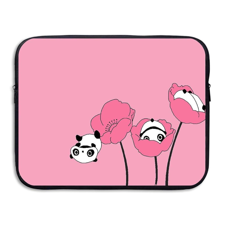 ラップトップスリーブケース保護バッグピンクパンダプリントウルトラブックスリーブバッグカバー用15インチ女性/男性、13インチ