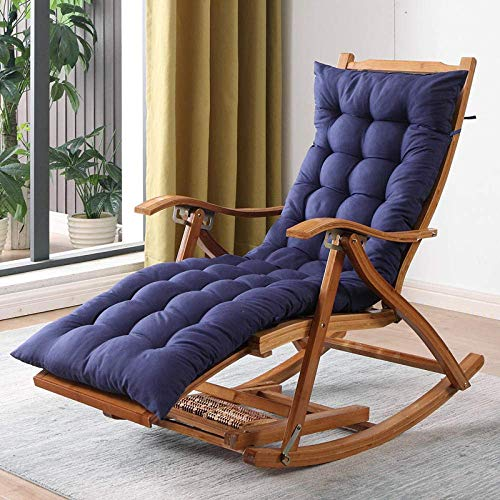 LLSS Rocking chair rocking chair home adult balcony leisure lazy lounge chair rattan old man nap adult solid wood chair