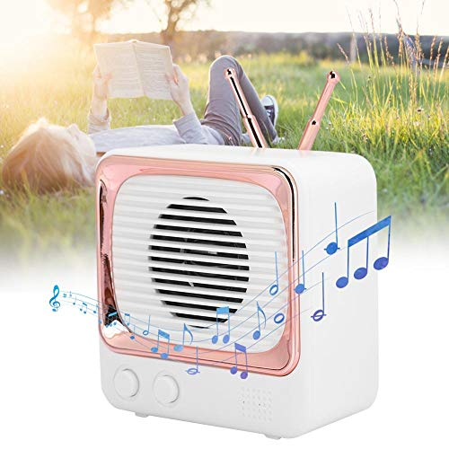 Redxiao 【𝐎𝐟𝐞𝐫𝐭𝐚𝐬 𝐝𝐞 𝐁𝐥𝐚𝐜𝐤 𝐅𝐫𝐢𝐝𝐚𝒚】 Altavoz Bluetooth para Reproductor de música, Altavoz inalámbrico, Tablet pc portátil para teléfono móvil(Rubber White)