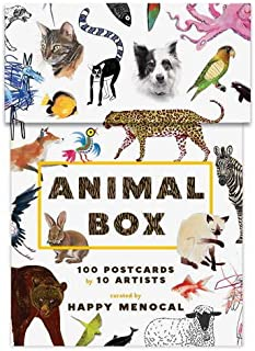 Animal Box: 100 Postcards by 10 Artists (100 postcards of cats, dogs, hens, foxes, lions, tigers and other creatures, 100 designs in a keepsake box)