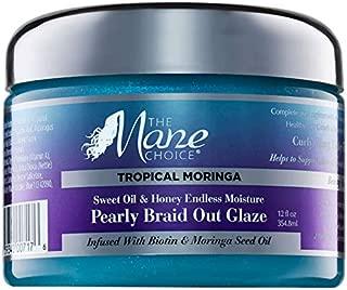 THE MANE CHOICE Tropical Moringa Braid-Out Glaze, 12 Oz