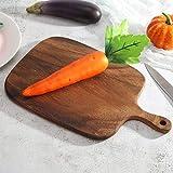 QIYIFANGZHI Cutting Board Tablas de Cortar de Madera con la manija Espesar de Cortar Cortar el Pan Herramienta for Domésticos de Cocina Apoyo de la fotografía Safe (tamaño : 1PC Wooden Spatula)