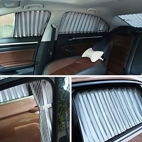 Chendunchishi 2 stuks 70 cm uittrekbaar auto gordijnen raam rol zonwering parasol afdekking zonnescherm autoaccessoires
