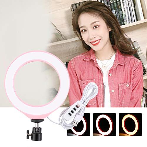 Lampada per il trucco, luce ad anello a LED con treppiede per trucco, foto dal vivo e video di bellezza, lampada a LED per fotocamera