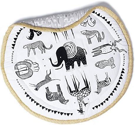 Wee Gallery Safari Play Mat Organic Cotton Muslin Mat for Baby 40 inch Diameter product image
