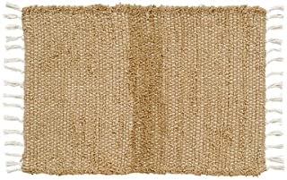 VHC Brands Burlap Natural Chindi/Rag Rug, 1'8