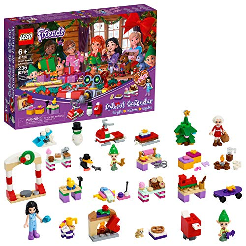 LEGO Friends Advent Calendar 41420, Kids Advent Calendar with Toys; Makes a Great Holiday Treat for Children who Love Toy Advent Calendars and buildable Figures, New 2020 (236 Pieces)
