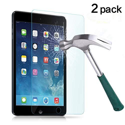 TANTEK iPad Mini 1/2/3 Screen Protector, [Bubble-Free][HD-Clear][Anti-Scratch][Anti-Glare][Anti-Fingerprint] Tempered Glass Screen Protector for iPad Mini 1/2/3 7.9 Inch,-[2Pack]