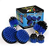 Pool Accessories - Cleaning Supplies - Drill Brush - 5 Piece Spin Brush Pool Cleaning Kit - Pool Supplies - Slide - Deck Brush - Hot Tub - Spa - Pond Liner - Pool Brush - Carpet Cleaner