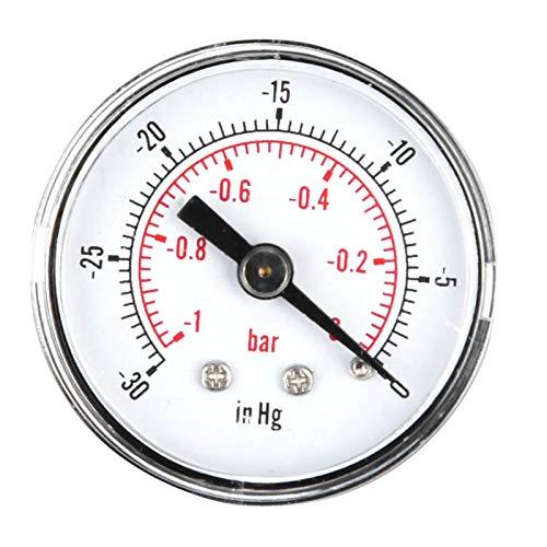 Agatige Medidor de presión de vacío de Doble Escala axial, medidor de Agua y Aire, compresor de Aire de Combustible, Aceite, Agua, Gas