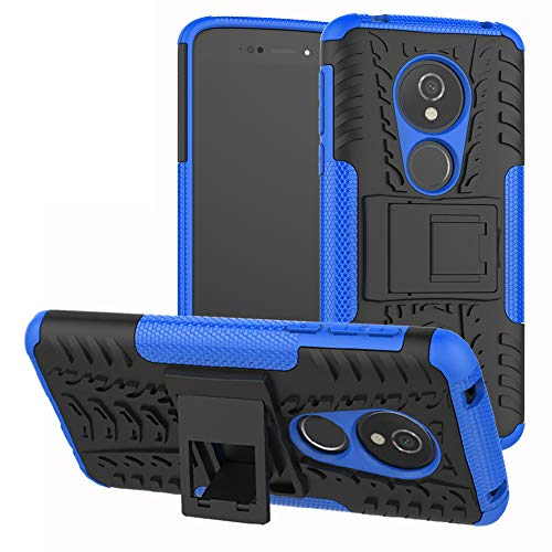 Labanema Moto E5 / G6 Play Funda, [Heavy Duty] [Doble Capa] [Protección Pesada] Híbrida Resistente Funda Protectora y Robusta para Motorola Moto E5 / G6 Play (con 4 en 1 Regalo empaquetado) - Azul