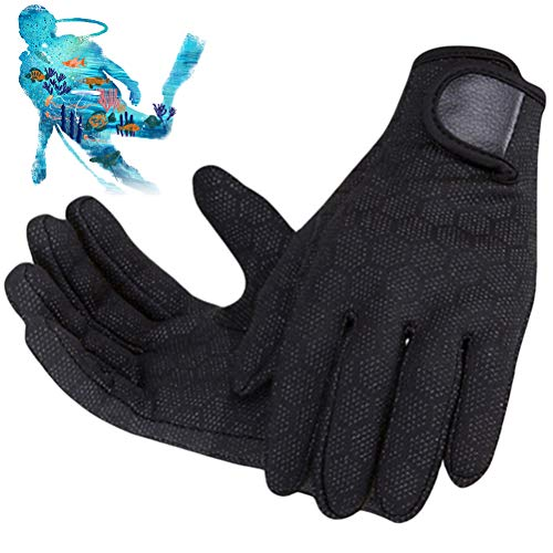 OUCRIY 2 mm diving gloves, wetsuit gloves, non-slip gloves for diving, surfing, kayaking, snorkelling, sailing, boating