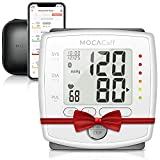 MOCACuff Bluetooth Blood Pressure Monitor, Wireless Fully Automatic Accurate Wrist Blood Pressure Monitor Cuff [Portable] with Protector Case and Tracking App for Apple and Android (White)