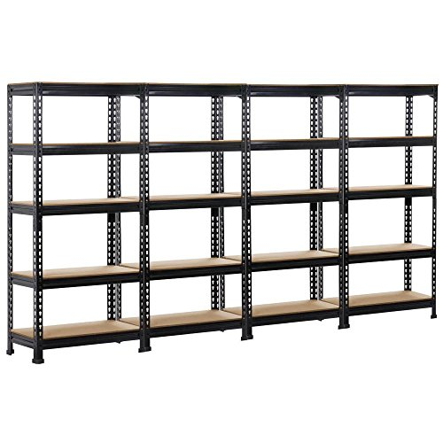 Simple Deluxe HKSHLF29146105G Heavy Duty 5-Shelf Shelving Unit, 29
