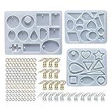 KunmniZ 1 Set Crystal Epoxy Resin Forma Pendientes Pendientes Colgante DIY Craft Jewelry Molde de Silicona Amigable ecológico Cómodo decoración para el hogar Hecho a Mano DIY Crafts