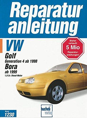VW Golf Generation 4 ab 1998. Bora ab 1999 1.9 Ltr. Diesel-Motor: 66 kW syncro / 66 kW Variant syncro / 66 kW Variant / 81 kW Limousine / 85 kW neuer Dieselmotor / 50 kW ohne Turbolader