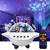 Star Projector Night Light, LETOUR LED Galaxy Starlight with Bluetooth Speaker Remote Control 360 Degree Rotation 6 Projection Films Adjustable Rechargeable Lamp Gift for Kid Nursery Bedroom Christmas