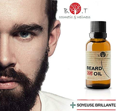 3en1 Olio da Barba 30 ml Rinforzare la barba 100% Naturale