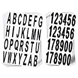 10 Sheets Mailbox Numbers and Letters Stickers Mailbox Door House Address Stickers Self Adhesive Vinyl Numbers Decals for Residence and Mailbox Signs, 3 Inches