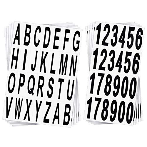 10 Feuilles Numéros Lettres de Boîte et Autocollants Lettres Autocollants Lettres d'Adresse de Porte de Boîte Autocollants Chiffres en Vinyle pour Signes de Résidence et Boîte aux Lettres, 3 Pouces