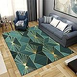 Alfombras Decoracion Dormitorio Estilo Amarillo Verde Estilo geométrico diseño Sala de Estar Alfombra de Lujo Alfombra Infantil alfombras de habitacion Juvenil 120*160cm