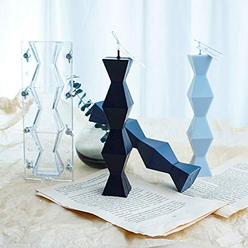 GZWY 3D Kerzengießform DIY Stereo Kerze Form Seifenform, Handwerk Aroma Kerzenform, Kunststoffform der Geometrischen Säule Hausgemachte Seifenkerze Mold
