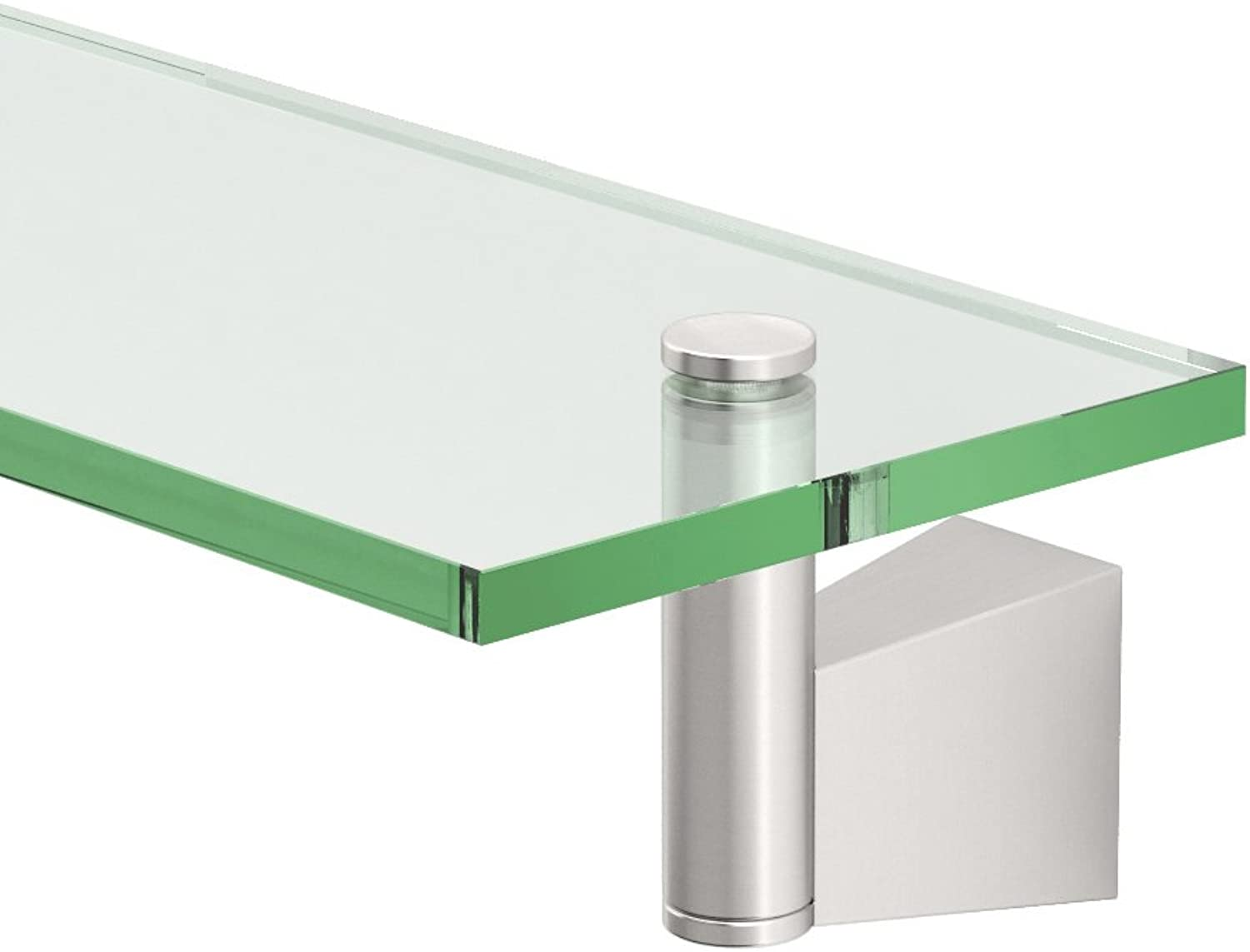 Gatco 4736 blue Glass Shelf, Satin Nickel