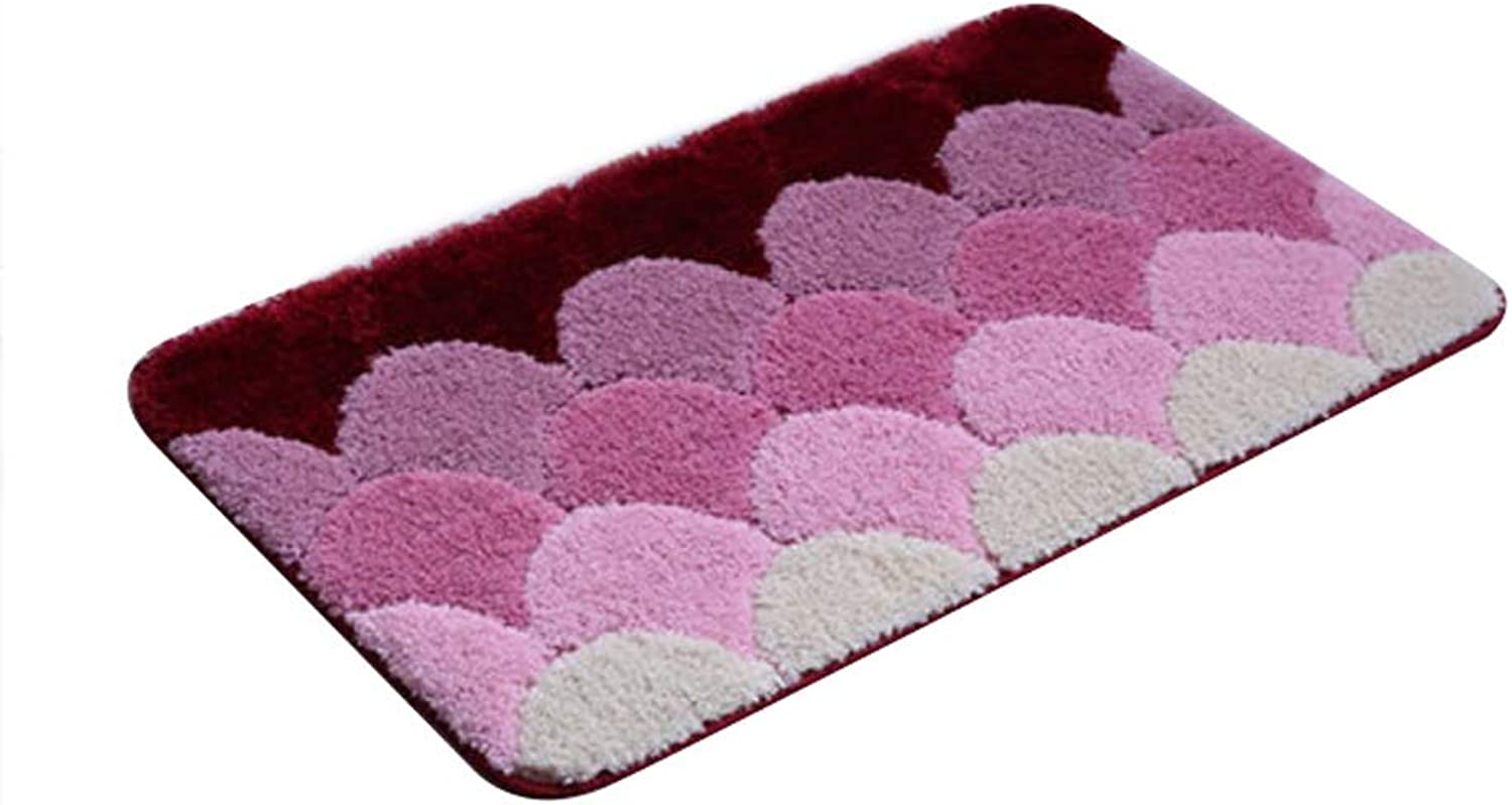 Bathroom Bedroom Door Mat Absorbent Pad Household Non-Slip Mat, Suitable for All Kinds of Scenes, Polyester Material (color   E, Size   80  150CM)