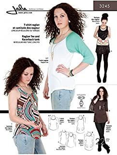 Jalie Ladies & Girls Easy Sewing Pattern 3245 Raglan Tee, Racerback Tank & Tunics
