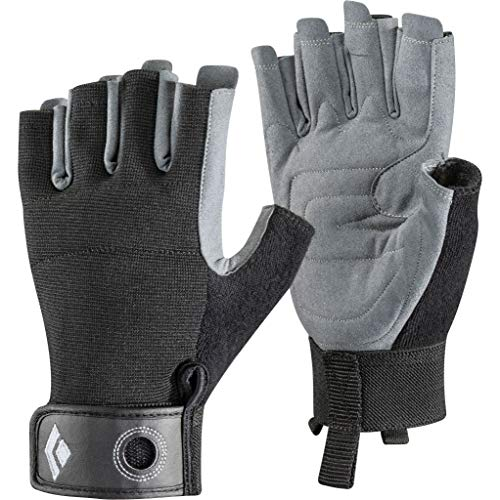 Black Diamond Crag Half Finger Glove Mixte - Noir - M