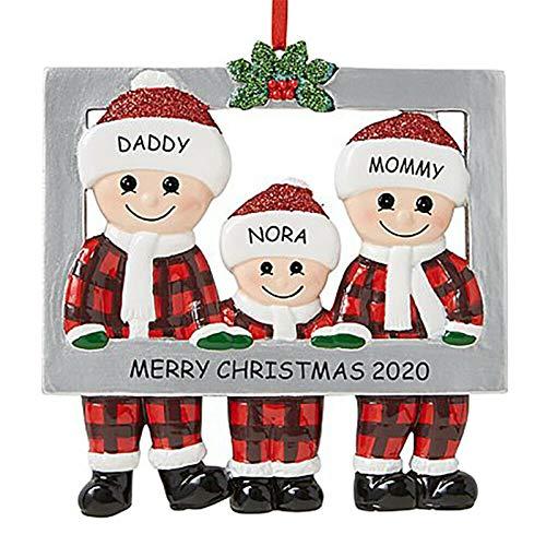 Boylee Christmas Tree Ornament 2020 Quarantine Family Christmas Decoration Family Members Name DIY Gift Christmas Tree Ornament 2020 Quarantine Family Xmas Decoration