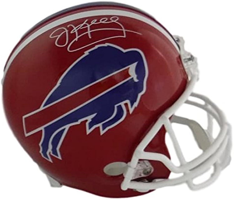 Jim Kelly Autographed Buffalo Bills Full Size Replica Helmet Name Only in White JSA