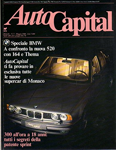 AutoCapital 5 Maggio 1988 BMW 520i, Porsche 944 Turbo S-Alfa Romeo 1900 Sprint