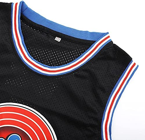 Chic Joias Mens 23# Space Movie Jersey Basketball Jersey 90S Hip Hop Stitched Clothing for Party White/Black/Blue
