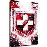 Lienzo de pintura al óleo para pared, póster de Call of Duty Zombies Perks Juggernog decoración de habitación de 30,5 x 45,7 cm
