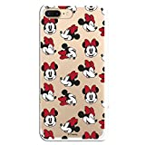 Fundas para iPhone 7 Plus y iPhone 8 Plus Oficiales de Disney. Mickey y Minnie Tus Personajes preferidos de Diseny protegiendo tu iPhone. (Minnie patrón Caras)