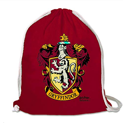 Logoshirt - Harry Potter - Gryffindor - Logo - Mochila Saco - Bolsa - rojo - Diseño original con licencia