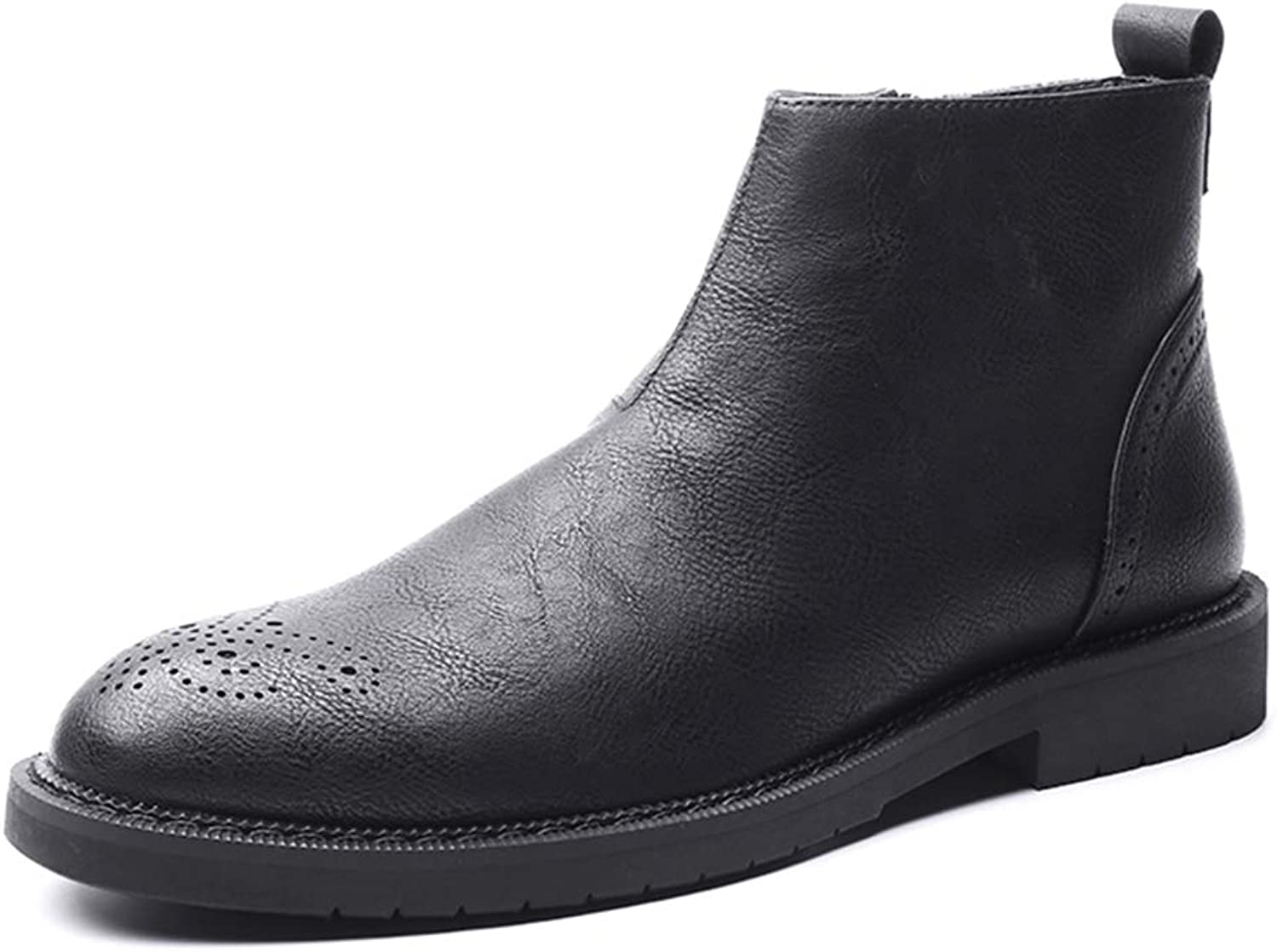 Men Dress Zip Boots Formal Leather Ankle Booties